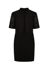 Lace Detail Shirt Dress, £48