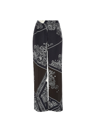 Navy Bandana Wide Leg Trousers, £40