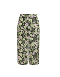 '70s Floral Print Silk Wide Leg Trousers by Boutique