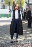 Blogger in Black Tailored Sleeveless Jacket
