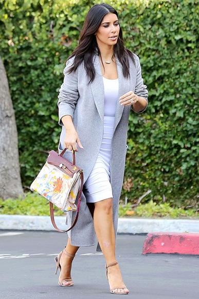 Kim Kardashian Style Oversized Coat The Style Intervention