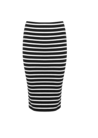 Miss Selfridge Jersey Stripe Pencil Skirt