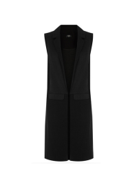 Oasis Black Panel Sleeveless Blazer