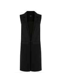 Oasis Black Panel Sleeveless Blazer
