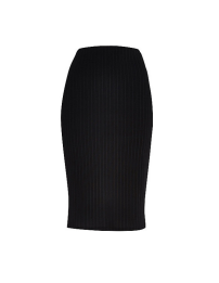 River Island Black Ribbed Bodycon Skirt