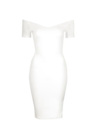 TFNC White Bardot Dress