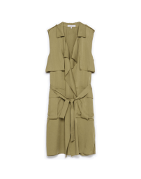 Zara Khaki Sleeveless Trench