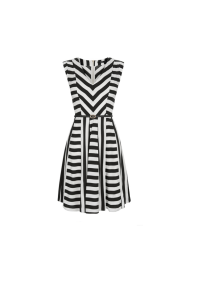 Oasis Striped Skater Dress