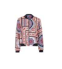 Topshop Scarf Print Bomber Jacket