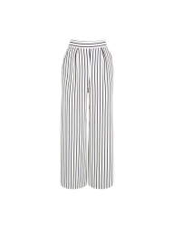 Warehouse Striped Cropped Trousers