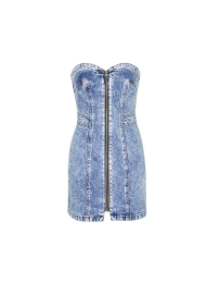 Debbie Zip Front Denim Dress by Topshop Archive