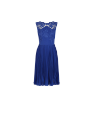 Oasis Embroidered Midi Dress