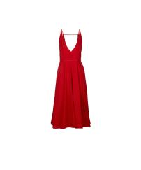 Topshop Deep V Midi Dress