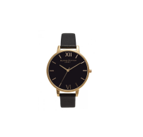 Olivia Burton Big Dial Black and Gold Watch, £80