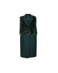 Topshop Sleeveless Faux Fur Hybrid Coat