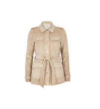 Cream Faux Suede Belted Jacket, £80
