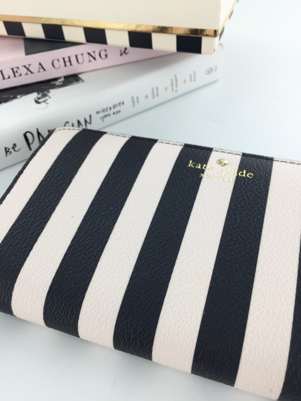 Kate Spade Monochrome Stripe Wallet