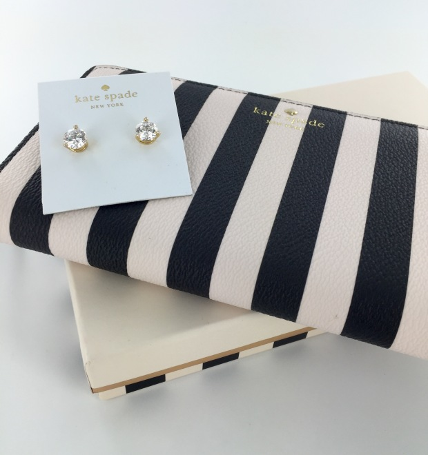 Kate Spade Lacey Wallet and Earrings