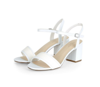 New Look White Woven Strap Midi Heels