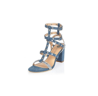 River Island Denim Studded Sandals