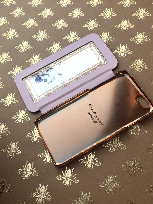 Ted Baker Rose Gold iPhone Case Open