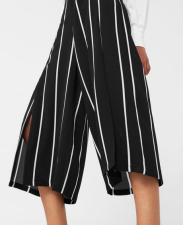 Mango Flowy Striped Culottes