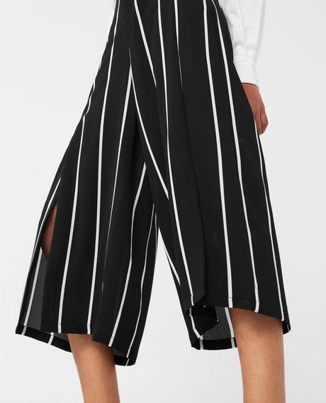 Mango Flowy Striped Culottes