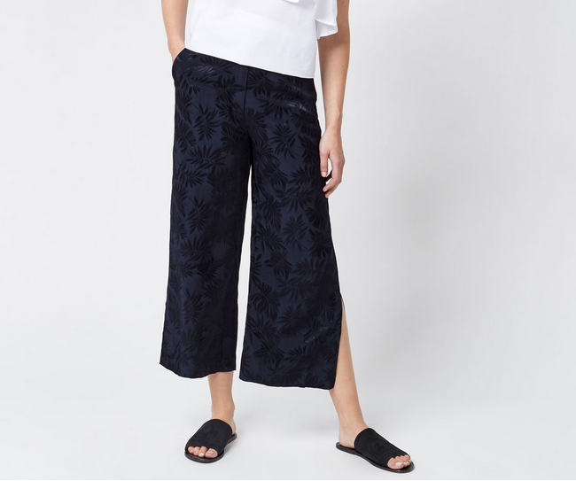 Warehouse Leaf Jacquard Culottes