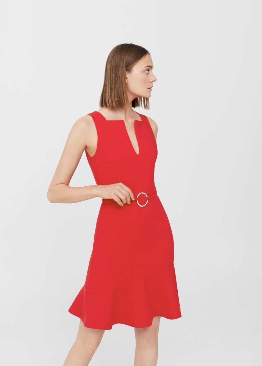 Mango Ring Detail Dress