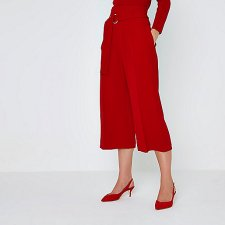 River Island Red Ring Tie Culottes