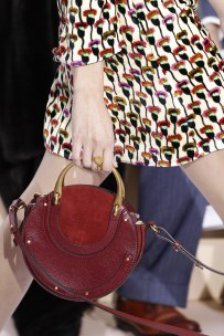 Chloe Pixie Bag in Sienna Red